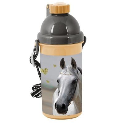 Plastová láhev 500ml Kůň Hearts