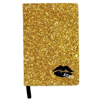 Notes diář se třpytkami A5 Barbie Lips