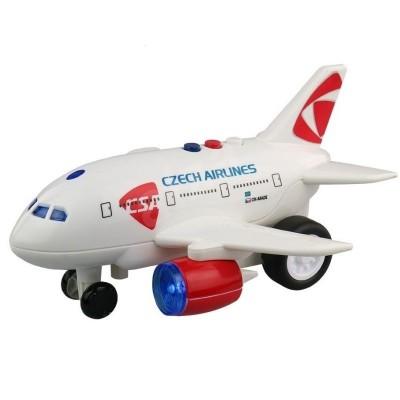 Letadlo ČSA s hlášením kapitána a letušky