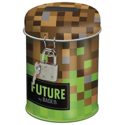 Kovová pokladnička kasička Future Minecraft