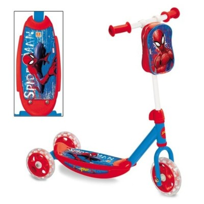 Dětská koloběžka tříkolka s kapsou Spiderman