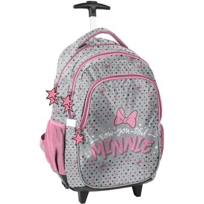 Cestovní batoh na kolečkách s vysouvací rukojetí Minnie Mouse Bow