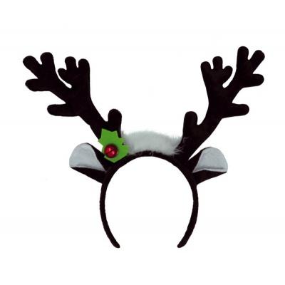 Vánoční čelenka sob