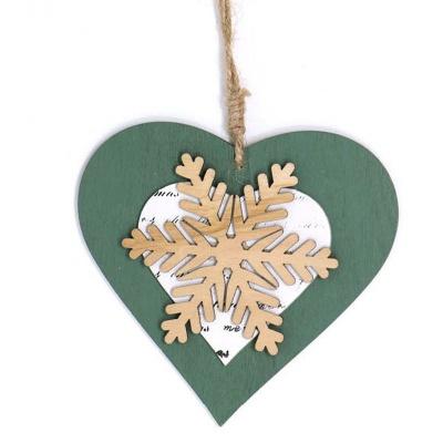 Vánoční ozdoba Srdce s vločkou 12cm