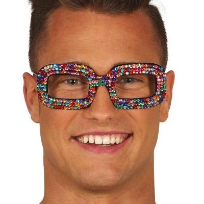Duhové brýle s kamínky Pop star