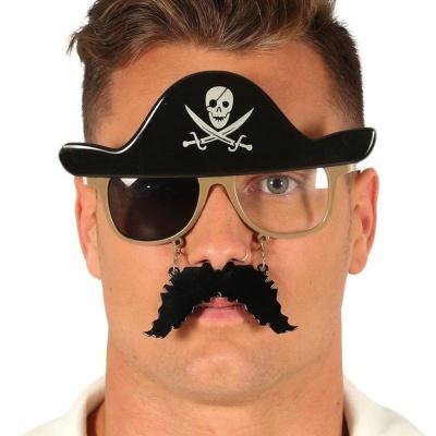 Brýle s knírkem pirát