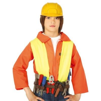 Pracovní helma a opasek s nářadím