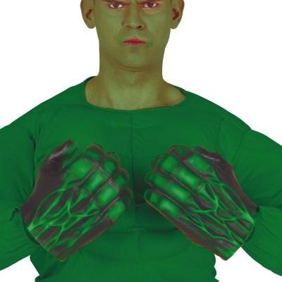 Zelené rukavice pěsti Silák
