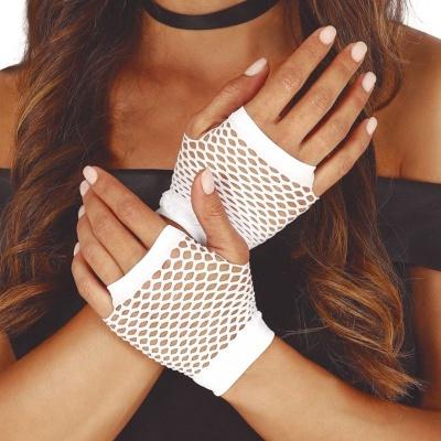 Síťované rukavice bílé 11cm