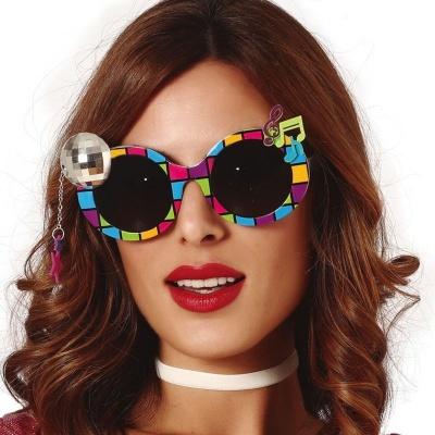 Retro brýle s disco koulí