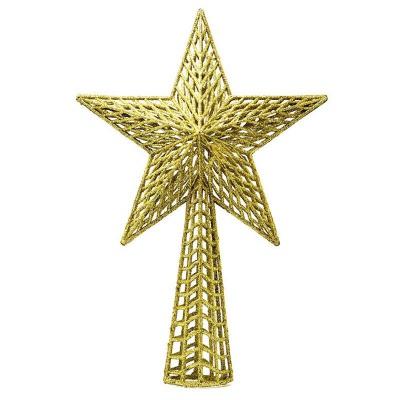 Vánoční ozdoba hvězda na špičku stromečku 27 cm