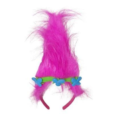 Čelenka s růžovými vlasy trol