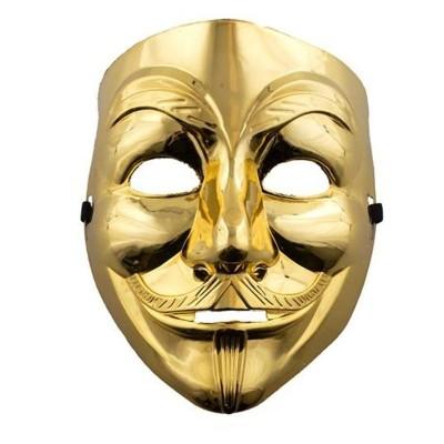 Maska Anonymous - zlatá