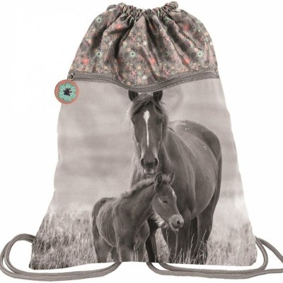 Batoh pytel vak s přední kapsou Kůň a hříbě