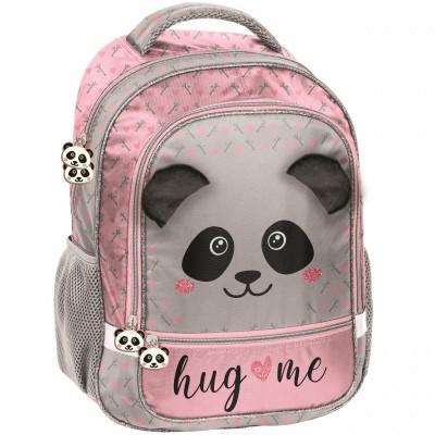 Školní batoh brašna Panda s plyšovýma ušima