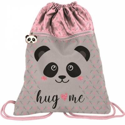 Batoh pytel vak s přední kapsou Panda s plyšovýma ušima