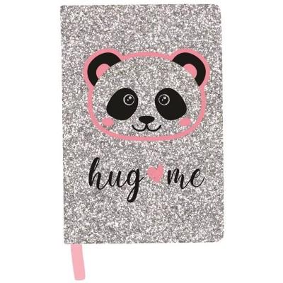 Třpytivý notes A5 Panda