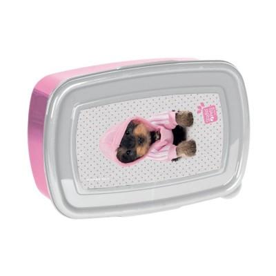 Svačinový box krabička na oběd Pes v mikině