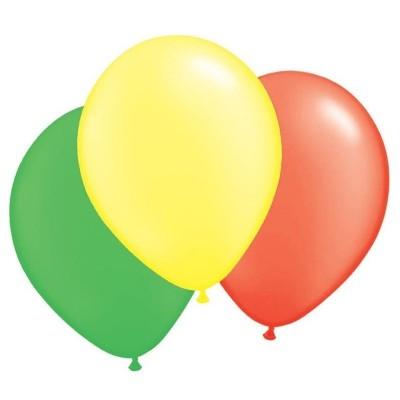 Balónky mix žluté, červené a zelené - 100ks