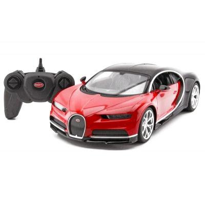 RC model Bugatti Chiron červené auto na dálkové ovládání 1:14