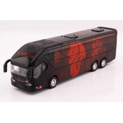 Kovový model Autobus AC Milan s otevíracími dveřmi 1:43