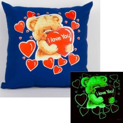 Svítící polštářek modrý Medvídek I love You!