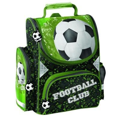 Školní batoh aktovka Fotbal zelená i pro prvňáčky
