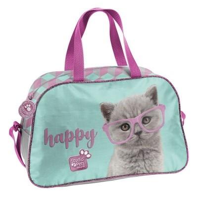 Dětská sportovní taška kabela Kočka Happy