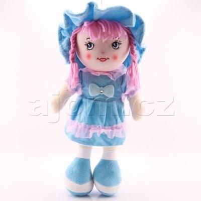 Textilní česky zpívající panenka 35cm modrá