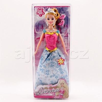 Panenka Princezna v plesových šatech s doplňky 30cm