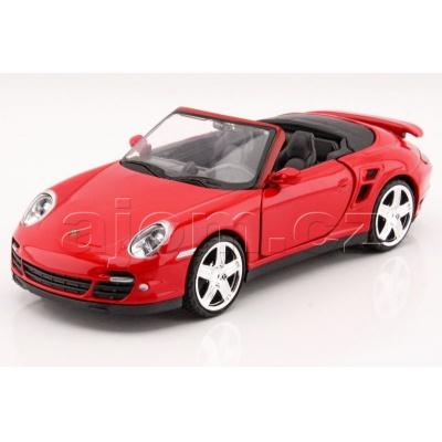 Kovový model auta Porsche 911 Turbo Cabriolet MotorMax 1:24