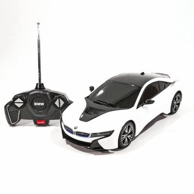 RC model BMW i8 auto na dálkové ovládání 1:18 bílá