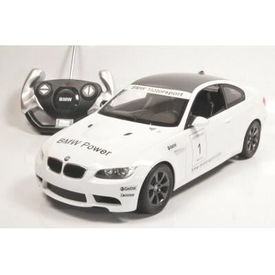 RC model BMW M3 auto na dálkové ovládání 1:14 bílá 2,4GHz