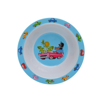 Dětské nádobí miska Krteček a autíčko 16cm