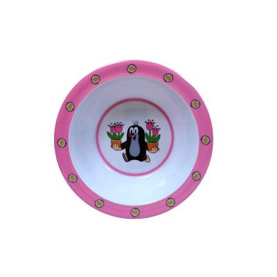 Dětské nádobí miska Krteček a tulipány 16cm