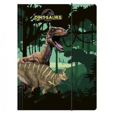 Desky s gumou složka na sešity A4 Dinosaurus