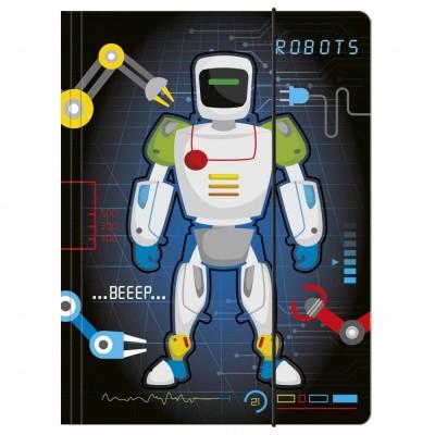Desky s gumou složka na sešity A4 Robot
