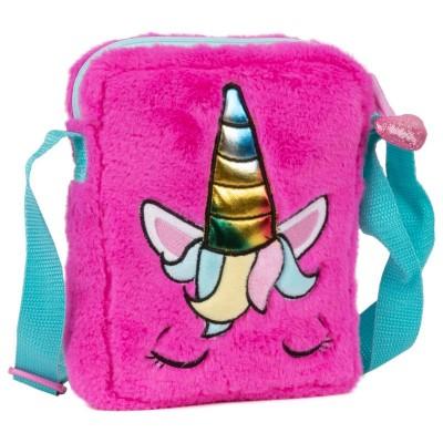 Plyšová růžová kabelka Jednorožec