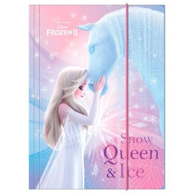 Desky s gumou složka na sešity A4 Frozen 2 Ledové království