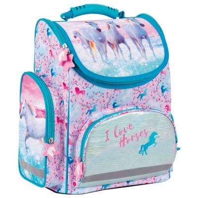 Školní batoh aktovka Koně i pro prvňáčky