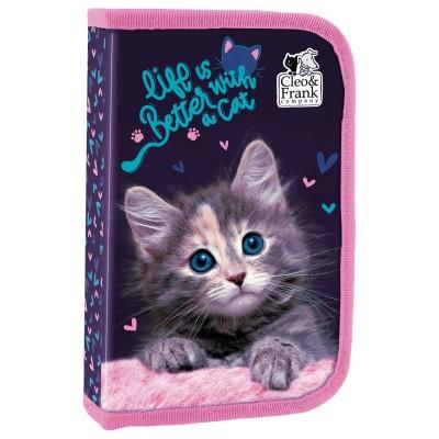 Penál s chlopní Kočka kotě