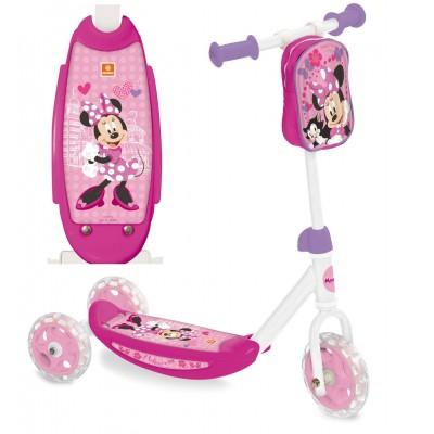 Dětská koloběžka tříkolka s kapsou Minnie