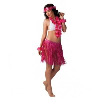 Kostým havajská tanečnice růžová
