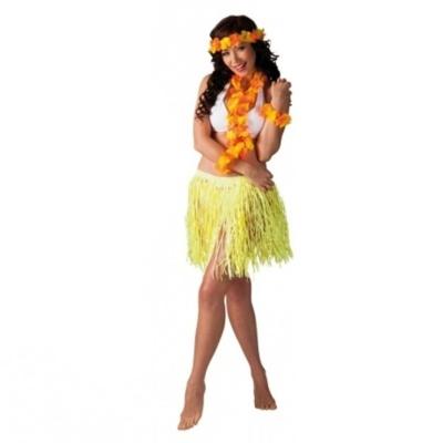 Kostým havajská tanečnice žlutá