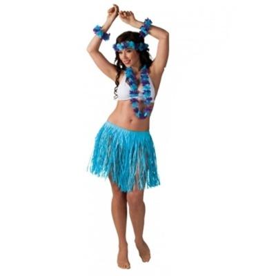 Kostým havajská tanečnice modrá