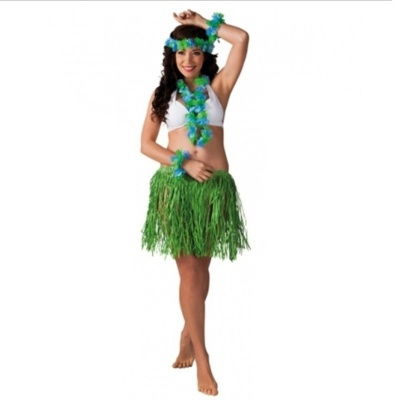 Kostým havajská tanečnice zelená