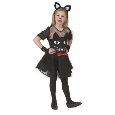 Dětský kostým Černá kočka 140
