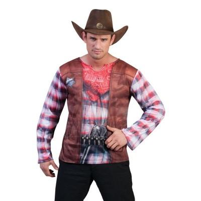 Pánský kostým 3D tričko kovboj 56