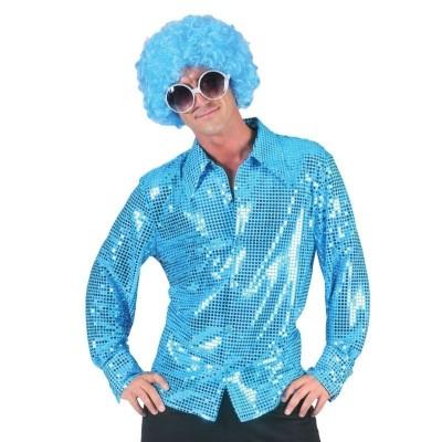 Pánský kostým Disco košile modrá 48-50