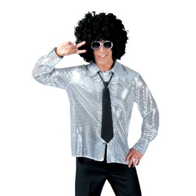 Pánský kostým Disco košile stříbrná 52-54
